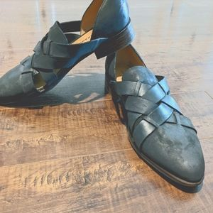 Lucky Brand women's size 9.5 leather loafers grey